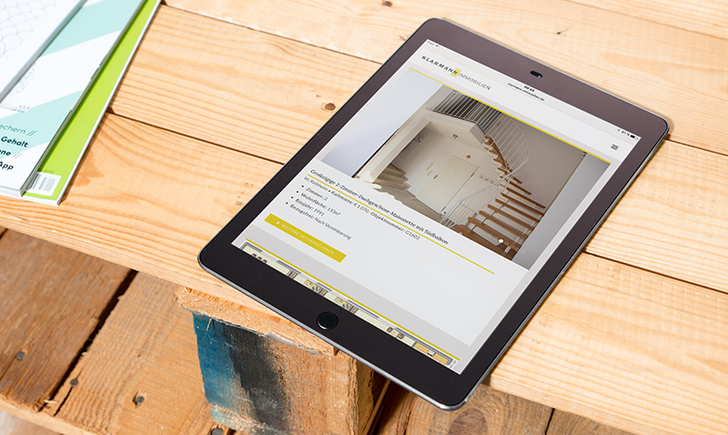 Website-Redesign für Immobilienmakler